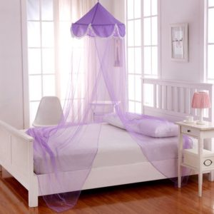 purple girl's canopy
